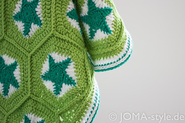 sternenhäkeldecke - JOMA-style - Nähblog & mehr...